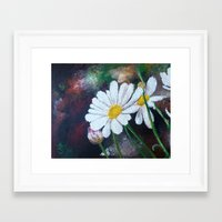 daisies Framed Art Prints featuring Daisies  by ANoelleJay