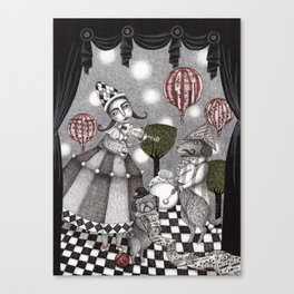 Alice's After Tea Concert Canvas Print