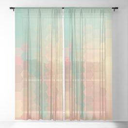 PEACH AND MINT HONEY Sheer Curtain