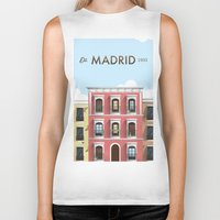 madrid Biker Tanks featuring Madrid by Sara Enriquez