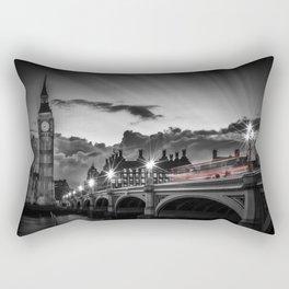 LONDON Westminster Bridge at Sunset   Colorkey Rectangular Pillow