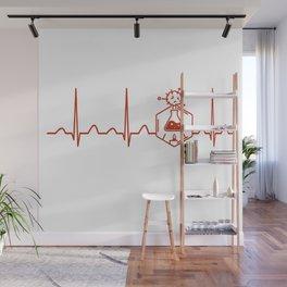 Chemical Engineer Heartbeat Wall Mural