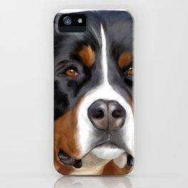 BERNESE MOUNTAIN DOG ART iPhone Case