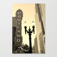 portland Canvas Prints featuring Portland by DarkMikeRys