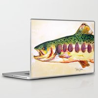 trout Laptop & iPad Skins featuring Papa's Trout by Tamra Sheline