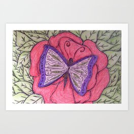 winged elegance Art Print