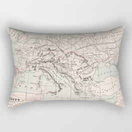 Vintage Fall of The Roman Empire Map (1901) Rectangular Pillow