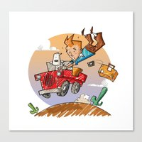 tintin Canvas Prints featuring Tintin and Snowy! by Ana Xoch Guillén