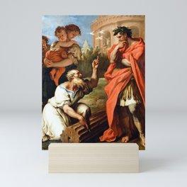 Sebastiano Ricci Tarquin the Elder Consulting Attius Navius Mini Art Print