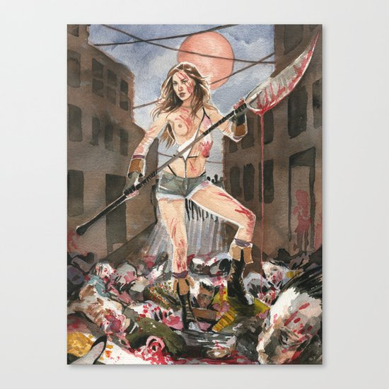 Pamela Horton's Zombie Slayer Canvas Print