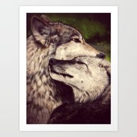 wolves Art Prints featuring Wolves by CLE.ArT.