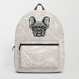 French Bulldog Smilling Backpack