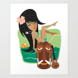 Belly Hai Art Print