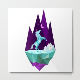 unicorn stand alone Metal Print