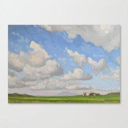Italian Cloud Landscape Painting Canvas Print