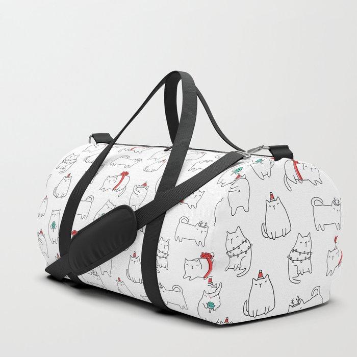 Fat Christmas cats Duffle Bag