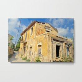 Old House in Paphos Old Town Metal Print