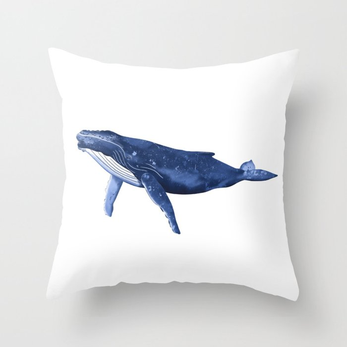 Humpback Whale Throw Pillow By Sarahwillustration Society6
