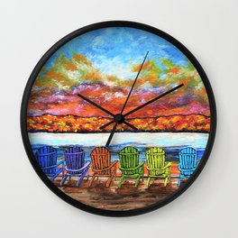 Relaxing on Canandaigua Lake - upstate ny rochester new york buffalo syracuse autumn fall adirondack Wall Clock