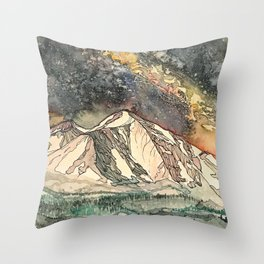 Mount Sopris and the Galaxy Throw Pillow