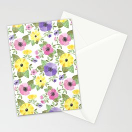 Spring Bouquet Watercolor Stationery Cards