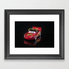 Lightning McQueen Framed Art Print