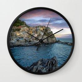 magnificent Manarola at sunset Wall Clock