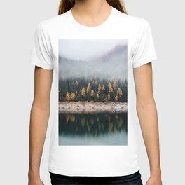Misty Autumn Forest T-shirt