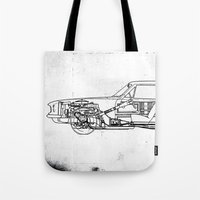 muscle Tote Bags featuring Muscle Car by Fernando Vieira