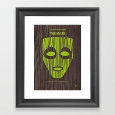 No647 My The Mask minimal movie poster Framed Art Print