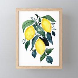 Watercolor Lemon Branch Framed Mini Art Print