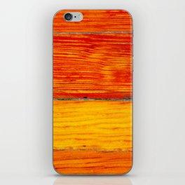 ORange wood iPhone Skin