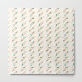 Sea Breeze Colorful Striped Fish Pattern Metal Print