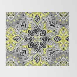 Boho Sunshine Medallion Pattern Throw Blanket