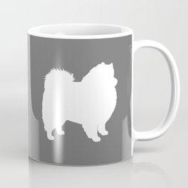 American Eskimo Dog Silhouette Coffee Mug