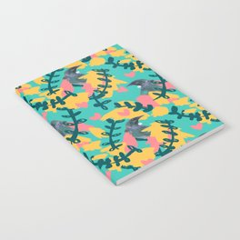 Blocky Tui Heart Print Notebook