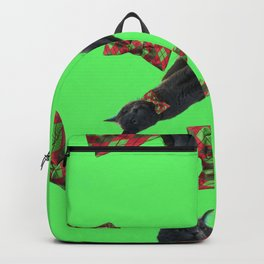 Gray Cat Christmas Backpack