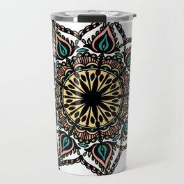 Detailed mandala: colored Travel Mug