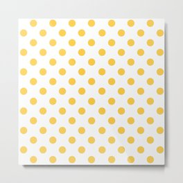 Polka Dots (Orange & White Pattern) Metal Print