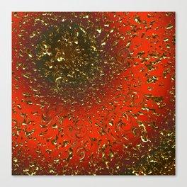 Golden Rain Tangerine Dream Canvas Print