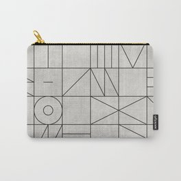 My Favorite Geometric Patterns No.3 - Grey Carry-All Pouch