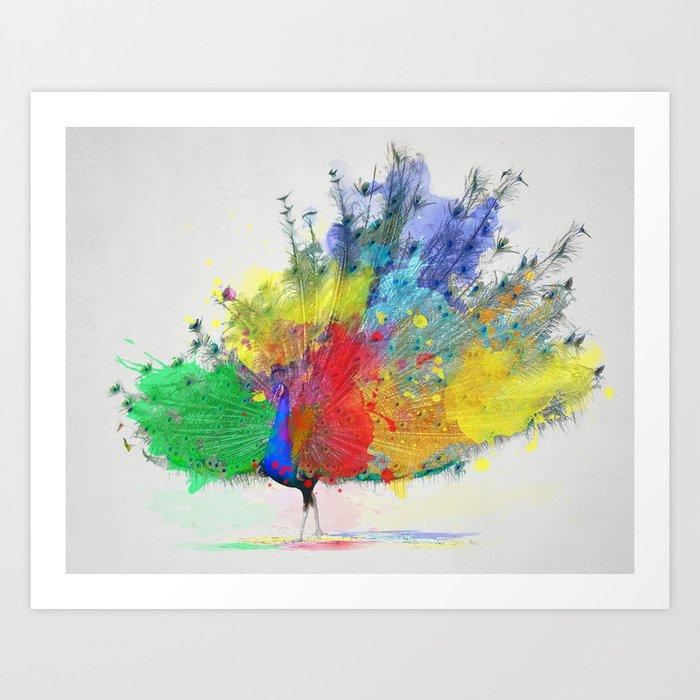 Peacock Colorful Art Print