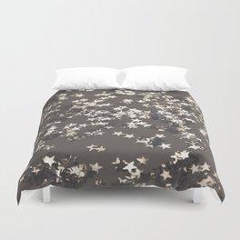 Sepia Night Glitter Stars #1 #shiny #decor #art #society6 Duvet Cover