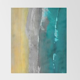 Watercolour Summer beach II Throw Blanket