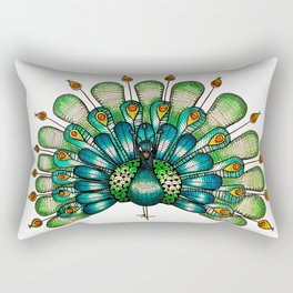 Peacock Rectangular Pillow