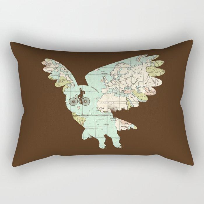 World Traveler Rectangular Pillow