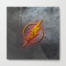 flash symbol Metal Print