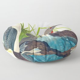 Red-Throated Diver Duck Floor Pillow