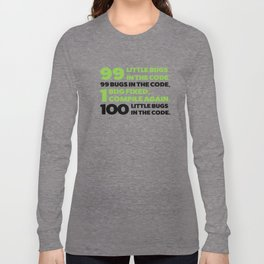 Little bugs in the code Long Sleeve T-shirt