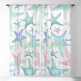 Starfish Pattern Sheer Curtain